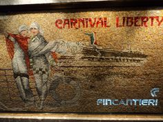 Ship Mosaic on Carnival Liberty Carnival Liberty, Mosaic, Vacation, Ship, Adventure, Painting, Art, Art Background, Vacations