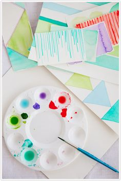 watercolor stationery diy - decor8 - camille styles events