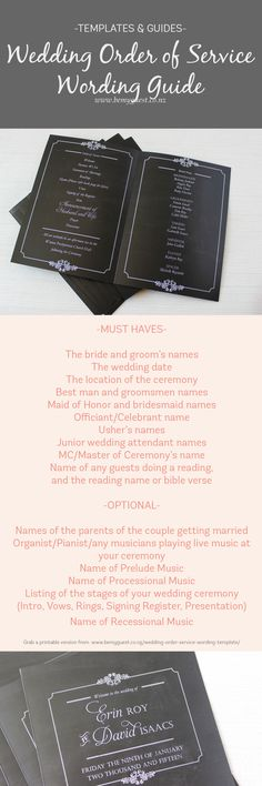the 111 best wedding order of service images on pinterest in 2018