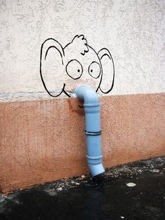 Whimsical Cartoon & Pop Culture Street Art by Alexey Menschikov