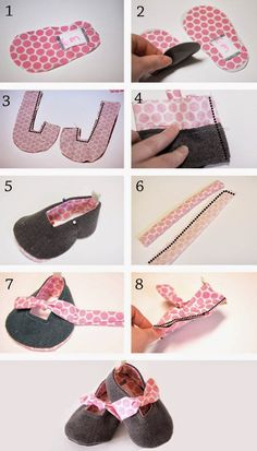 Forget me knot shoes {free pdf pattern crochet simple baby shoes Sewing Patterns Free, Baby Patterns, Clothing Patterns, Doll Shoe Patterns, Baby Sewing Projects, Sewing For Kids, Baby Outfits, Kids Outfits, Baby Shoes Tutorial