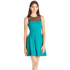 Bcbgeneration True Emerald Sweet Heart Dress - Women's (110 CAD) ❤ liked on Polyvore featuring dresses, true emerald, blue sleeveless dress, bcbgeneration dress, bcbgeneration, no sleeve dress and blue sweetheart neckline dress