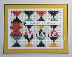 Another cross stitch design based on a cushion we have at home