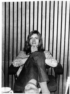 David Bowie, 1970  Loox more like Cobain, here, but I'm diggin' the skin-shirt.