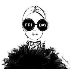 чёрный, пятница, веселье, девушка, уик-энд