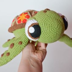 Crochet PATTERN - Squirt sea turtle from Finding Nemo  pattern by Krawka, Dory, turtle, tortoise, sea creature, cute, Disney, Pixar movie