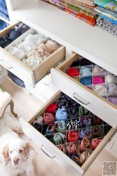 2. #Small Dividers - 20 Easy #Examples of Drawer Organization That Will Make Your Life #Easier ... → DIY #Organization