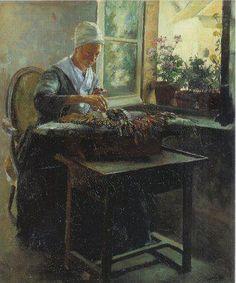 =Flemish - lacemaker - portrait - art