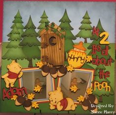Trees, Outhouse & Moon cut out are from Paper Doll Dress Up. Nanne's Creations: At 2 it's all about the Pooh..