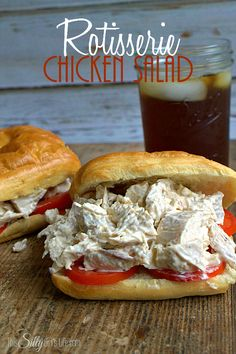 Rotisserie Chicken Salad TEArifficPairs Creamy chicken salad made with rotisserie chicken found in the deli! Rotisserie Chicken Salad, Chicken Salad Recipes, Chicken Salad Sandwiches, Chicken Salads, Buffalo Chicken, How To Make Salad, Deli Shop, Gumbo, I Love Food