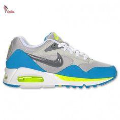 Nike WMNS Air Max Correlate, Chaussures de Sport Femme, Blanc (White/Black-Turquoise Blue-Blk), 38 1/2 EU