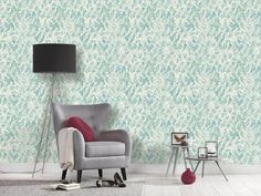 This geometric triangle print wallpaper is in such a trendy shade of robins egg blue and turquoise! Geometric Star Wallpaper, Graphic Wallpaper, Print Wallpaper, Sponge Painting, Triangle Print, High Quality Wallpapers, Kids Bedroom, Modern, Living Room