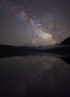 de-preciated:  Historys Reflection by Ben Canales on Flickr. Source - (http://flic.kr/p/8ajphJ) No Photoshop! Single Exposure :-)  Minor color and light adjustments made in Lightroom 2  When I got to this lake and made it through the trees to the shore of the lake and saw the stars the mountain and the Milky Way all reflecting in the lake- I know this sounds cheesy but I almost teared up. It was beautiful.  Never in my life in all my travelling in all my backpacking have I seen the Milky Way…