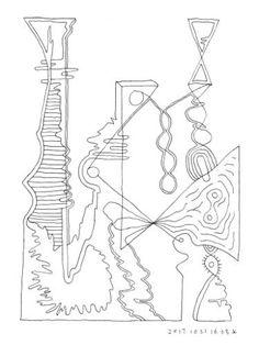 "Saatchi Art Artist Donald Lee; Drawing, ""Geographic formation (Mind Forms Line Art - 201710211603)"" #art"