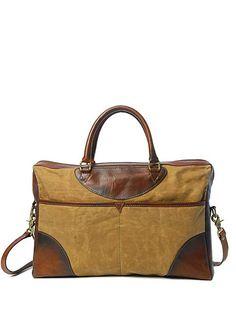 Sandast - York Canvas Bag. I like masculine-looking bags. There I said it!