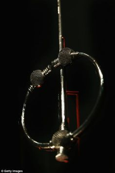 A brooch is displayed during the press preview of the Vikings, Life and Legend Exhibition