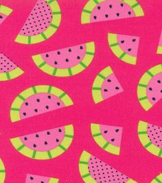 Novelty Cotton Fabric- Pink Watermelon, , hi-res