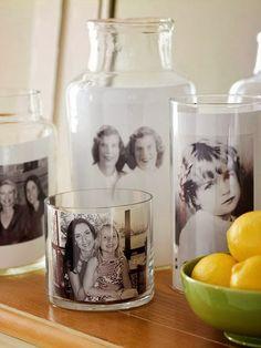 Aquí les presento más de 20 ideas de porta retratos realmente sencillos de hacer, a base de frascos, tarros y botellas de vidrio comunes y...
