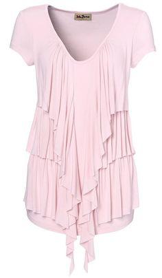 bluze dama marimi mari roz cu volane Peplum, Ruffle Blouse, Cape, Women, Fashion, Mantle, Moda, Cabo, Fashion Styles