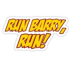 Run Barry, Run! Sticker