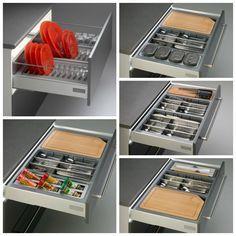 Cuberteros modulares para cajones de cocina