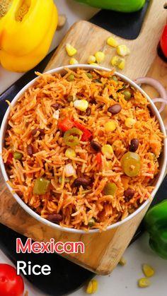 One Pot Recipes, Tasty Rice Recipes, Vegetarian Rice Recipes, Mexican Rice Recipes, Aloo Recipes, Veg Recipes, Curry Recipes, Mexican Food Recipes, Rice