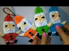 модульное оригами красивый дед мороз (елочная игрушка,Santa Claus, Christmas tree toy) мастер класс - YouTube