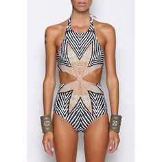 Stylish Zig Zag Halter One-Piece Swimsuit For Women http://www.irockbags.com/stylish-zig-zag-halter-onepiece-swimsuit-for-women