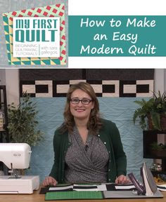Join Sara Gallegos as she demonstrates how to make a modern quilt on this episode of My First Quilt. Watch it now for free on QNNtv.