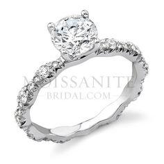 Check out the deal on moissanite Four Prong Designer engagement ring at MoissaniteBridal.com