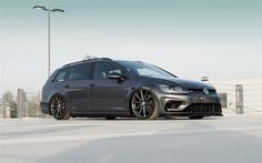 Vossen, tuning, 2017 cars, Volkswagen Golf R Variant, wagons, german cars, stance, VW, Volkswagen