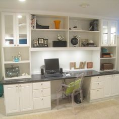 Another Floor To Ceiling With A Built In Desk Kitchen