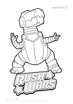 B.I.G. from Rush Wars #rushwars #supercell #brawlstars #coloringpages #fanart Star Coloring Pages, Learn To Draw, Twitter Sign Up, Fanart, War, My Love, Drawings, Cute, Learn How To Draw