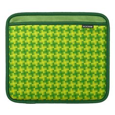 Yellow-green squares sleeve sleeve for iPads