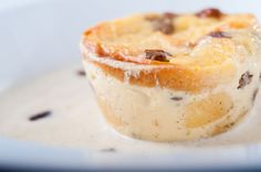 Classic bread & butter pudding, served with a Bermuda rhum and raisin anglaise...