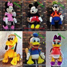 Mickey Mouse und die Bande (6patterns) - Amigurumi Häkeln Muster