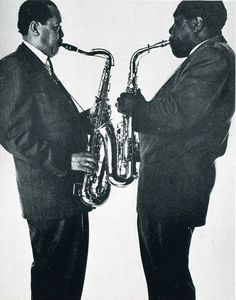 Lester Young & Charlie Parker (Photo: Irving Penn)