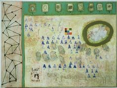 This artwork, Relative by Squeak Carnwath, is currently for sale at Sylvia White Gallery.