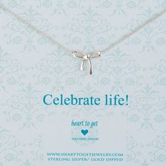 Heart to get N22BOW12S Celebrate life ketting zilver