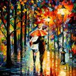 By Leonidafremov... beautiful colors all done with oils and a palette knife