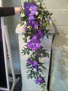Purple Wedding Flowers   ... Your Florist to Use Vanda Orchids to Create a Similar Bridal Bouquet