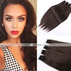 "Brazilian Virgin Human Hair Tape Hair Extension 20pcs/70g 24"" 26"" PU Skin Weft Human Hair Extensions Hair Weft 5071478 2016 –…"
