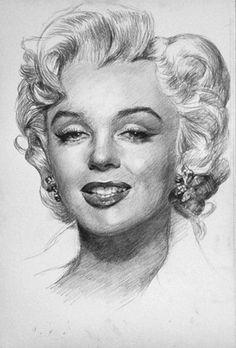 Marilyn Monroe by jasonhyl || This image first pinned to Marilyn Monroe Art board, here: http://pinterest.com/fairbanksgrafix/marilyn-monroe-art/ ||