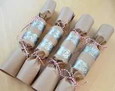 Making christmas bon bons christmas pinte home made christmas crackers wrap gift in tissue paper pop in a toilet solutioingenieria Choice Image