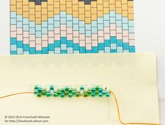Learn How To Use an Even Count Peyote Stitch Pattern Graph and Word Chart: Continue Reading the Pattern and Beading More Rows