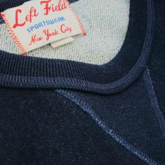 Left Field NYC — Indigo Dyed Loop Terry Crossgrain Crew