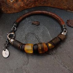 "Salammbô on Instagram: ""Raw Baltic Amber Wrap Bracelet, listed today 🖤shop link in bio 🖤 . . . #rawamber #amber #ambrebijoux #amberjewelry #rusticjewelry…"""