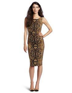 Reviews KAMALIKULTURE Women's Sleeveless Ruched Dress, Mixed Animal, Large
