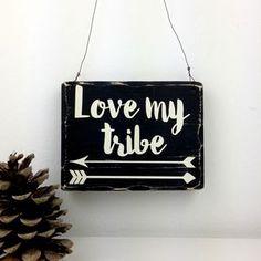 Love My Tribe Arrow Handmade Small Wooden Sign Cute Home Decor, Easy Home Decor, Home Wall Decor, Diy Wall Art, Cheap Home Decor, Home Decor Online, Home Decor Store, Diy Wood Signs, Wall Signs