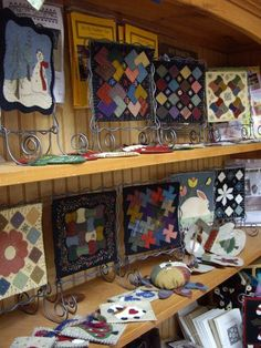 small wool quilts...I love miniature quilts, also known as doll quilts.  Making a doll quilt was a way of teaching young people how to quilt by starting with making one for their doll.  The antique ones are wonderful as are the new ones.